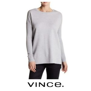 Vince Long Sleeve Knit Wool Blend Tunic Pullover